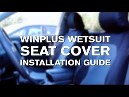 wetsuit seat cover installation you