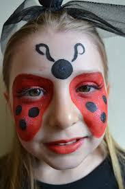 ladybug birthday party face paint and makeup ideas