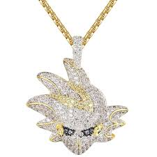 2018 spring summer juwlcity iced out saiyan cartoon character simulated lab diamonds pendant 74206