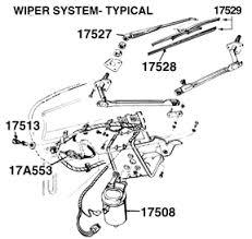 65 73 mustang wiper parts 1967 73 windshield wiper motor 2 speed