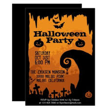 Halloween Invitations Cards Spooky Halloween Party Invitation Zazzle Com Halloween