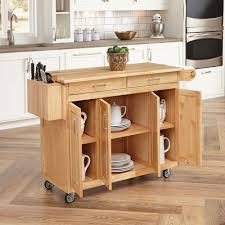 Home Styles Natural Kitchen Cart With Breakfast Bar 5023 95 The