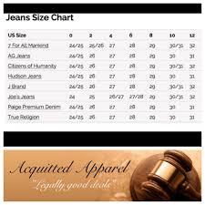 True Religion Stock Chart Paige Jeans Size Chart Www Bedowntowndaytona Com