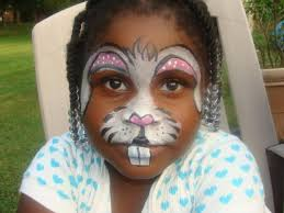 image of bunny face paint stencils