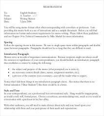 Sample Of Memoranda 15 Formal Memorandum Templates Sample Word Google Docs