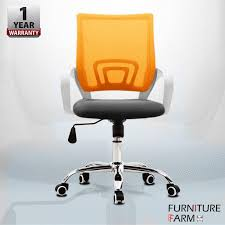 white frame office chair. F\u0026F: White Frame Swivel Mix \u0026 Match Mid-Back Mesh Office Chair With Chrome Leg Malaysia