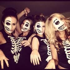 Image result for Skeleton Facepaint group pinterest