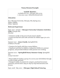 Objective For A Nanny Resume Resume For A Nanny Nanny Resume Templates Nanny Resume Sample 94