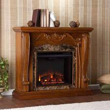 lila 45 25 in freestanding electric fireplace in walnut