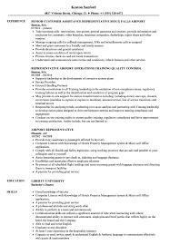 Airport Representative Resume Samples Velvet Jobs