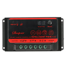 <b>10a</b>/<b>20a</b>/<b>30a</b> lcd solar controller dual usb port <b>12v</b>/<b>24v</b> auto battery ...