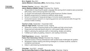 Free Sample Resume For Teachers Free Sample Resume Template