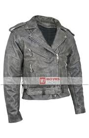 men s vulcan vintage distressed grey leather motorcycle jacket