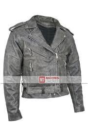 men s vulcan vintage distressed grey leather motorcycle jacket
