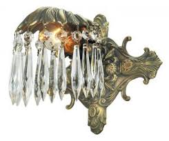 brass bathroom lighting fixtures. art deco wall sconce elegant crystal recreated antique light fixture 501esdk brass bathroom lighting fixtures