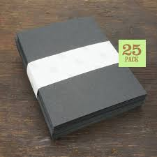 Blank Notecards With Envelope Size A2 Black Cards And Etsy
