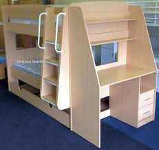 wood bunk bed with desk. Fine With Olympic Bunk Beds With Trundle Bed And Desk  Wood R