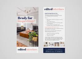 Edited Interiors Flyer Sarah Laura Design Real Estate Dl Flyers