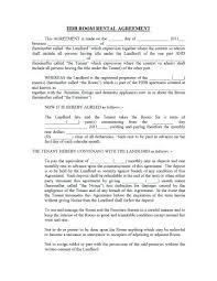 Apartment Rental Agreement Template Word Inspiration Free Printable Room Rental Agreement Forms Unique Residential Lease