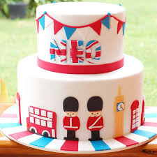 Birthday Cake Boy London Theme British Theme Soldier Neo