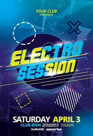 Free Flyer Template Download Electro Club Session Free Flyer Template For Dj Parties