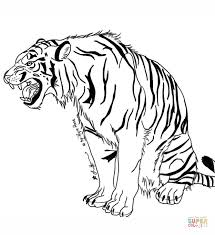 Small Picture Snarling Tiger coloring page Free Printable Coloring Pages