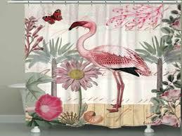 flamingo bathroom home botanical shower curtain from rug wall decor