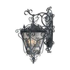 new orleans style outdoor collection 4 light wrought iron wall mount lantern