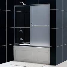 infinity plus sliding tub door frosted glass