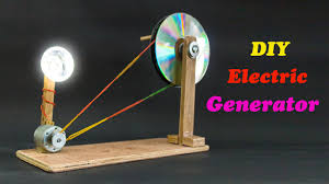 how to make a simple electric generator. School Science Projects Electric Generator. DIY How To Make A Simple Generator