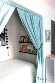 Bed in closet Double Omg What Kid Wouldnt Love This Cozy Bed Nook Learn All Designer Trapped How To Turn Closet Into Bed Nook Designertrappedcom