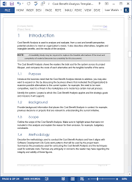 Cost Benefit Analysis Template (Ms Word/excel) | Templates, Forms ...