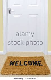open door welcome mat. A Welcome Doormat In Front Of Door. - Stock Image Open Door Mat R