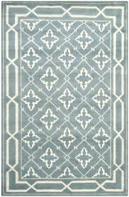 the mosaic collection white pattern rug blue and china