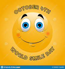 Yellow Smiley Face World Smile Day Card Template Cute