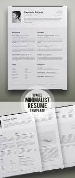 35 Best Minimal Cv Resume Templates Design Graphic Design Junction