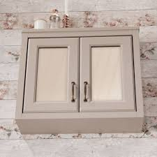 butler rose darcy french grey wooden bathroom mirrored cabinet 700 x 600mm
