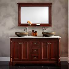 double vanity with two mirrors. double vanity vessel sinks base trevet cherry brown cupboard an vas with two mirrors