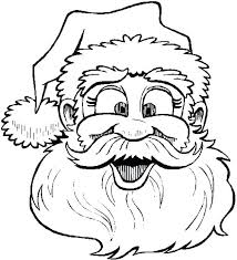 Large Santa Claus Coloring Page Face Coloring Pages Face Coloring