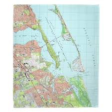 Fl Jensen Beach Stuart Fl 2003 Topo Map Blanket In 2019