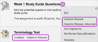 How Do I Enable Adaptive Release Option In A Blackboard Course Site