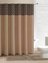 home dynamix designer bath shower curtain and bath rug set db15l 150 leopard beige designer bath collection shower curtain mat set shower curtain