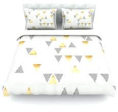 nick atkinson triangle love gray gold duvet cover cotton queen contemporary yellow and grey bedding sets