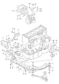 Securing parts for engine audi 80 90 avant a80 europa 1981 year