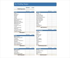 Sample Wedding Budget Spreadsheet 15 Wedding Budget Templates Free Pdf Docs Xls Format