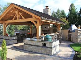 outdoor bar plans with roof. rustic covered outdoor kitchen with bar | hgtv plans roof