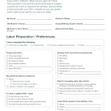 Birth Plan For C Section Template Best Birth Plan Template Natural Unique C Section Scheduled