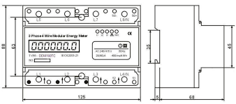 phase wire energy meter wiring diagram images phase wire phase din rail digital multifunction power meter view meter