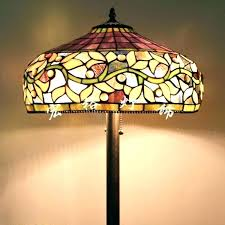 replacement glass floor lamp shades ideas shade and stained torchiere sha