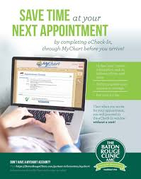 Echeck In Is Now Available Through Mychart Baton Rouge Clinic